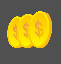 Golden coins money bank vector