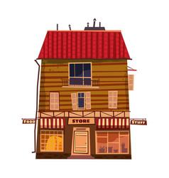 grocery store shop facade building vector image