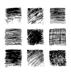 Hand drawn pencil scribble stains vector