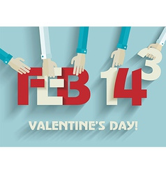 Happy Valentines day card design 14 february vector image