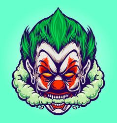 Head joker smoking joint cloud vector