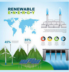 Infographics renewable energy vector