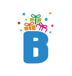 initial gift b vector image
