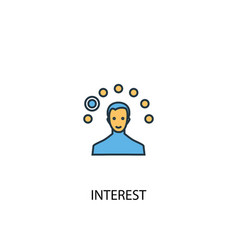 interest concept 2 colored icon simple blue vector image