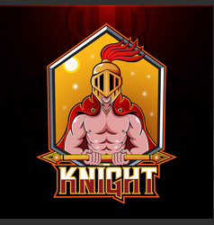 Knight esport mascot logo design vector