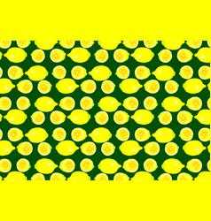 lemon on green background vector image
