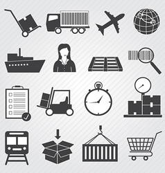Logistic and Delivery Icons Set vector image