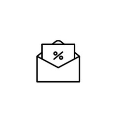 mail promotion icon vector image