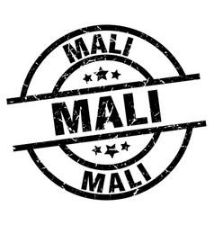 Mali black round grunge stamp vector