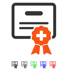 Medical certification flat icon vector