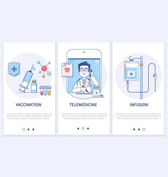 medical treatment concepttelemedicineonline vector image
