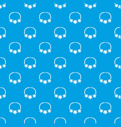 necklace star pattern seamless blue vector image