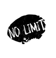 No limit rubber stamp vector