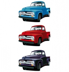 Old-fashioned pickup vector