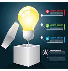 Open idea infographic vector