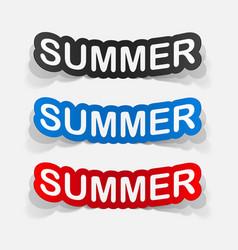 Paper sticker summer vector