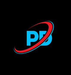 pd p d letter logo design initial letter pd vector image