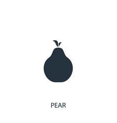 Pear fruit icon simple gardening element symbol vector