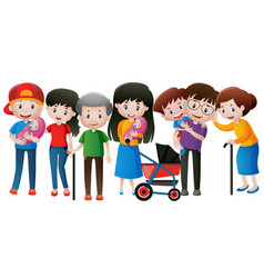 people in the family with different ages vector image