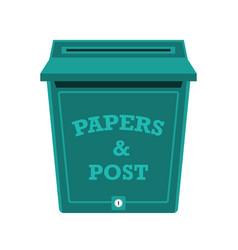 Post box or mailbox icon vector