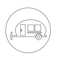 recreation vehicle icon vector image