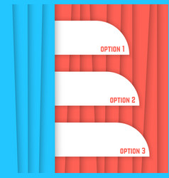Red and blue striped background vector
