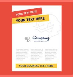 robotics title page design for company profile vector image