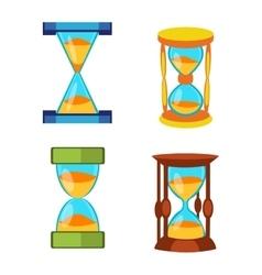 Sand clocks set vector image