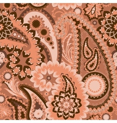 Seamless Pattern Paisley Colorful Background vector image