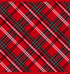 Seamless tartan plaid pattern fabric pattern vector