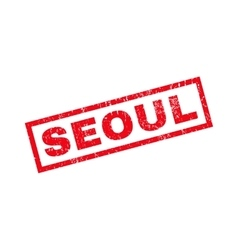 Seoul Rubber Stamp vector