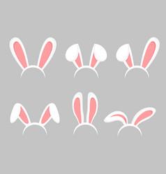 set easter bunny cartoon vector image