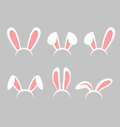 set of easter bunny cartoon vector image