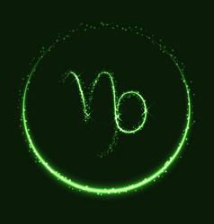Shiny astrological symbol of capricorn vector