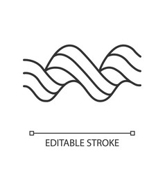 Sound spiral wave linear icon thin line music vector