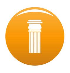 Stone column icon orange vector