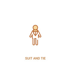 Suit and tie concept 2 colored icon simple line vector