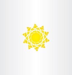 sun sign vector image