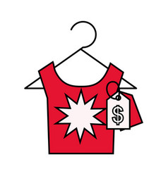 Tshirt tag price online shopping vector
