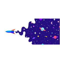 universe motivation banner with universe cosmos vector image