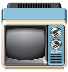 Vintage tv set icon vector