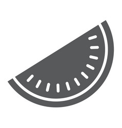 watermelon glyph icon fruit and vitamin vector image