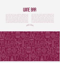 wine bar concept for restaurant menu vector image