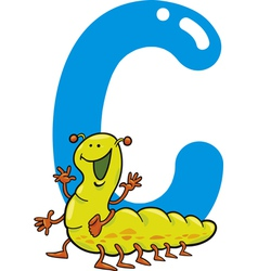 C for caterpillar vector image vector image