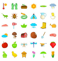 crop icons set isometric style vector image vector image