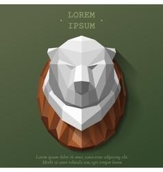 poly beer head vector image