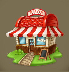 shop 3d icon vector image vector image