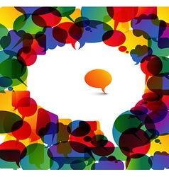 Big speech bubble made from colorful small bubbles vector image vector image