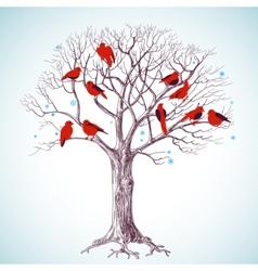 Birds tree vector