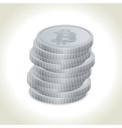 Bitcoin coins vector image